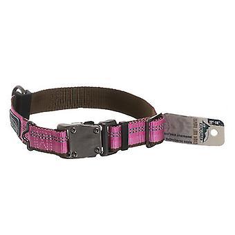 """K9 Explorer Reflective Adjustable Dog Collar - Rosebud - 12""""-18"""" Long x 1"""" Wide"""