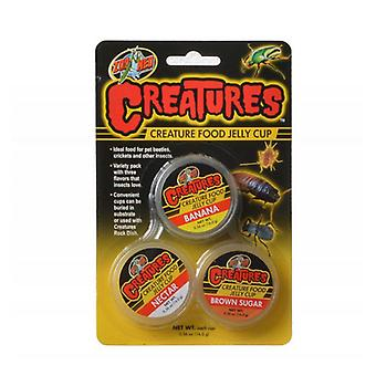 Zoo Med Creatures Creature Food Jelly Cup - 3 Pack - (0.56 oz/16 g Each)