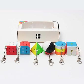 Speed Cube 2x2x2 3x3x3 Pyramid Trihedron Cylinder Sphere Brain Teaser Puzzle Toy