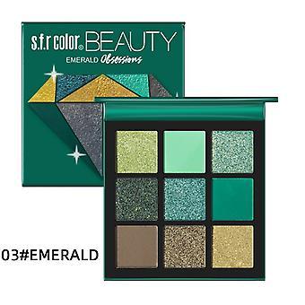 9Colors Diamond Matte Shimmer Glitter Eyeshadow Palette Nude Minerals Maquillaje de ojos| sombra de ojos