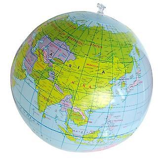 40Cm puhallettava räjäyttää maailman maapallon maapallo kartta pallo koulutusplaneetta maa pallo valtameri lapsi oppiminen maantiede lelu kotiin