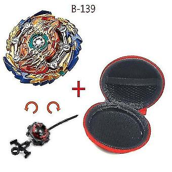 Spinning tops 5 beyblade burst sparking turbo b48 launcher  metal top gyro blade blade spinning fight toys b139