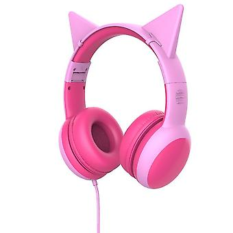 Kid's Headphone With Microphone For School(Pink)