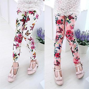 Mädchen Leggings Sommerblume bedruckt (9-11 Jahre)(Pink)