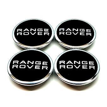 Zwarte Range Rover Wheel Center Caps Hub Badges 63mm 4 Pcs Voor Evoque Defender Discovery Sport Vela