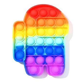 大人の子供抗ストレスシリコーンおもちゃプレスストレスリリーバーバブルそわそわ感覚おもちゃストレスリリーバー減圧おもちゃ