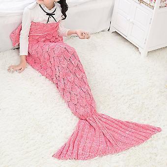 Mermaid Tail Crocheted Sofa Blanket Carpet Knit Handmade Cosplat Costume