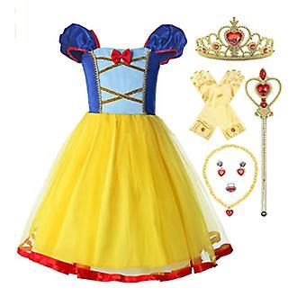 Snow White Dress, Snow White Girls Short Sleeve Dress Princess Dress Costume