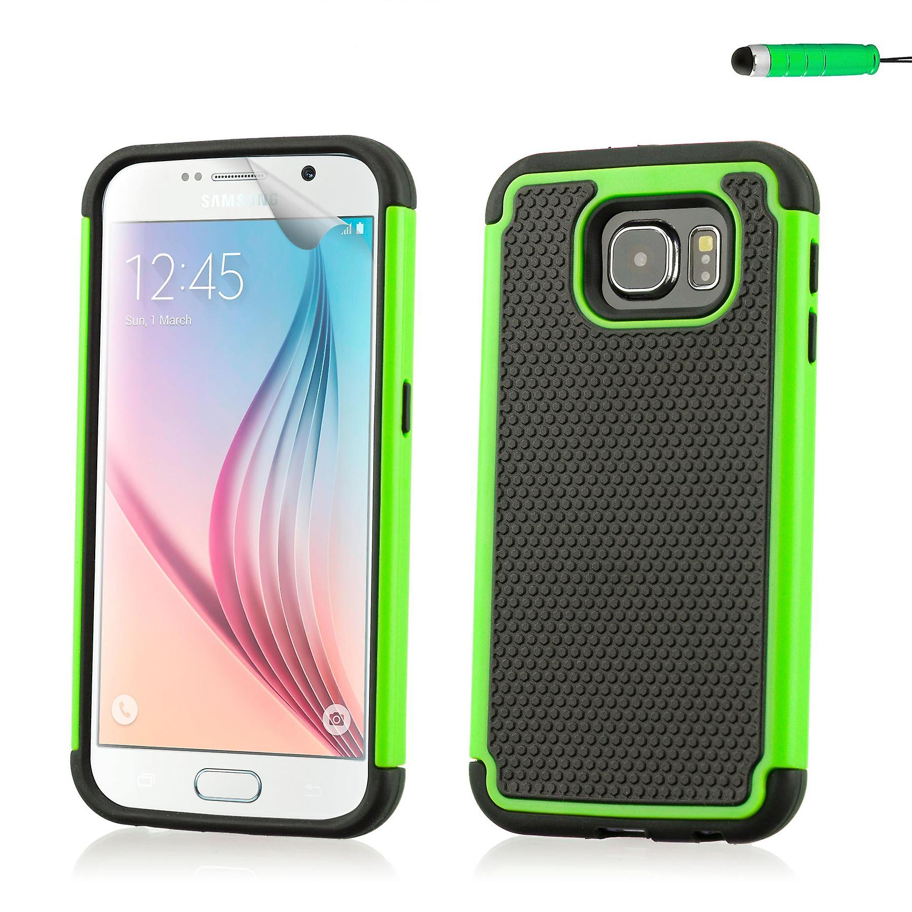 Shock proof case cover for Samsung Galaxy S6 (SM-G920) - Green