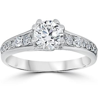 1 1/3ct Diamond Ring 14K White Gold