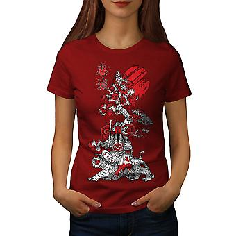 Japanischen Ritter Fantasy Frauen RedT-Hemd | Wellcoda