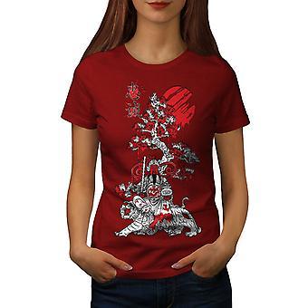 Japanese Knight Fantasy Women RedT-shirt | Wellcoda