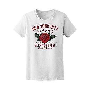 NYC Manhattan roser gjengen Tee kvinners-bilde av Shutterstock