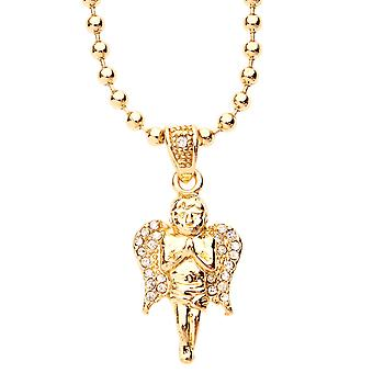 Iced Out Bling Fashion Kette - MICRO ANGEL gold