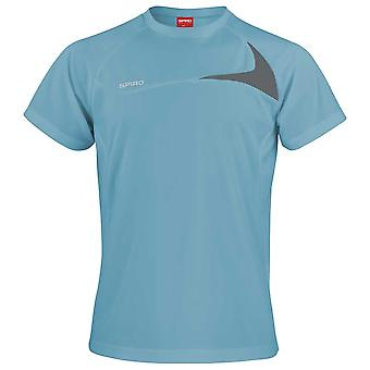 Spiro Mens Colours Short Sleeve Dash Training Sports Fitness Running Shirt