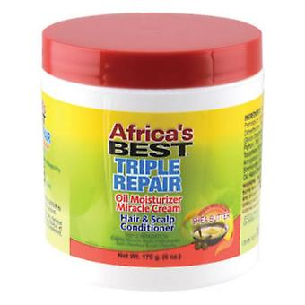 Afrikas bedste Organics Triple reparation mirakel creme krukke 6oz