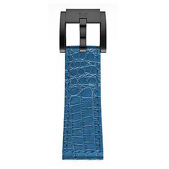TW Steel Marc Coblen armband horloge band 22 MM Croco lederen LB_BL_K_B blauw