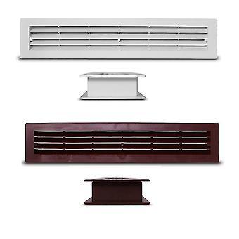 Ventilationsgallret galler CasaFan KTG PVC dörr i olika färger