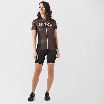 New Gore Women's C3 Brand Cycling Jersey Brown