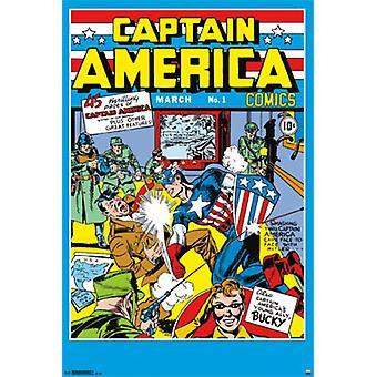 Capitán América - tema 1 cómic cubierta Poster Print