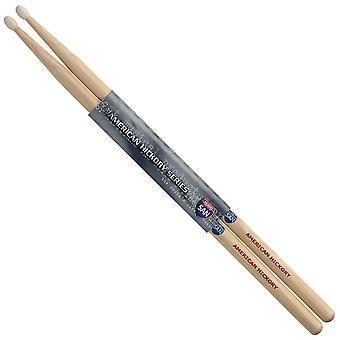 Par de Hickory Sticks - punta de Nylon - 5AN