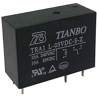 Tianbo Electronics TRA1 L-5VDC-S-Z PCB relay 5 V DC 12 A 1 change-over 1 pc(s)
