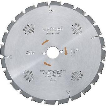Metabo HW/CT 254X30 24 WZ 628220000 carbide metal rundsav klinge 254 x 30 x 1,8 mm antal COGS: 24 1 pc (er)