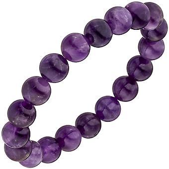 ブレスレット アメジスト紫バイオレット 19 cm アメジスト宝石ブレスレット弾性