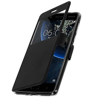 Flip case with Window for Nokia 5 by Colorfone - Black