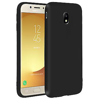 Forcell case for Samsung Galaxy J5 2017, soft touch cover, silicone case – Black