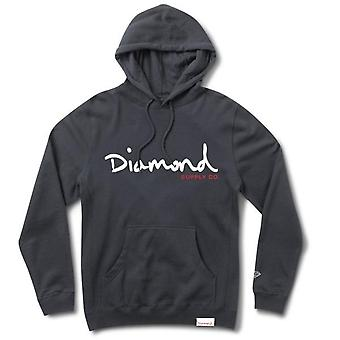 Diamond Supply Co Og Script Hoodie Navy