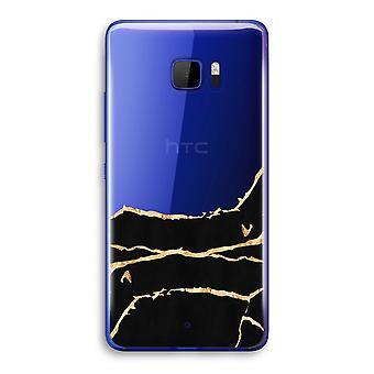 HTC U Ultra przezroczysty (Soft) - złoto marmuru