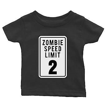 Zombie Speed Limit Baby Gift Tee Black