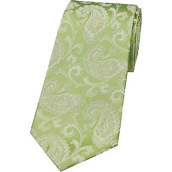 David Van Hagen Paisley tonale silke slips - Lime grønn