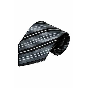 Grijze zijden stropdas Lenta 01