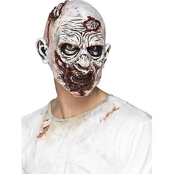 Zombie Mask, Foam Latex, Multi-Coloured, Full Overhead