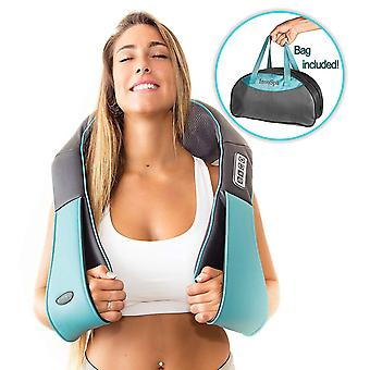 InvoSpa Shiatsu Back Neck and Shoulder Massager with Heat - Deep Tissue 3D Kneading Pillow Massager for Neck, Back, Shoulders, Foot, Legs Electric Full Body Massage, Relieve Muscle Pain - Office, Home and Car