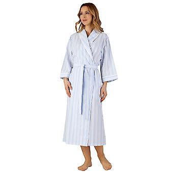 Slenderella HC3226 女性の織ストライプ ローブ ガウン