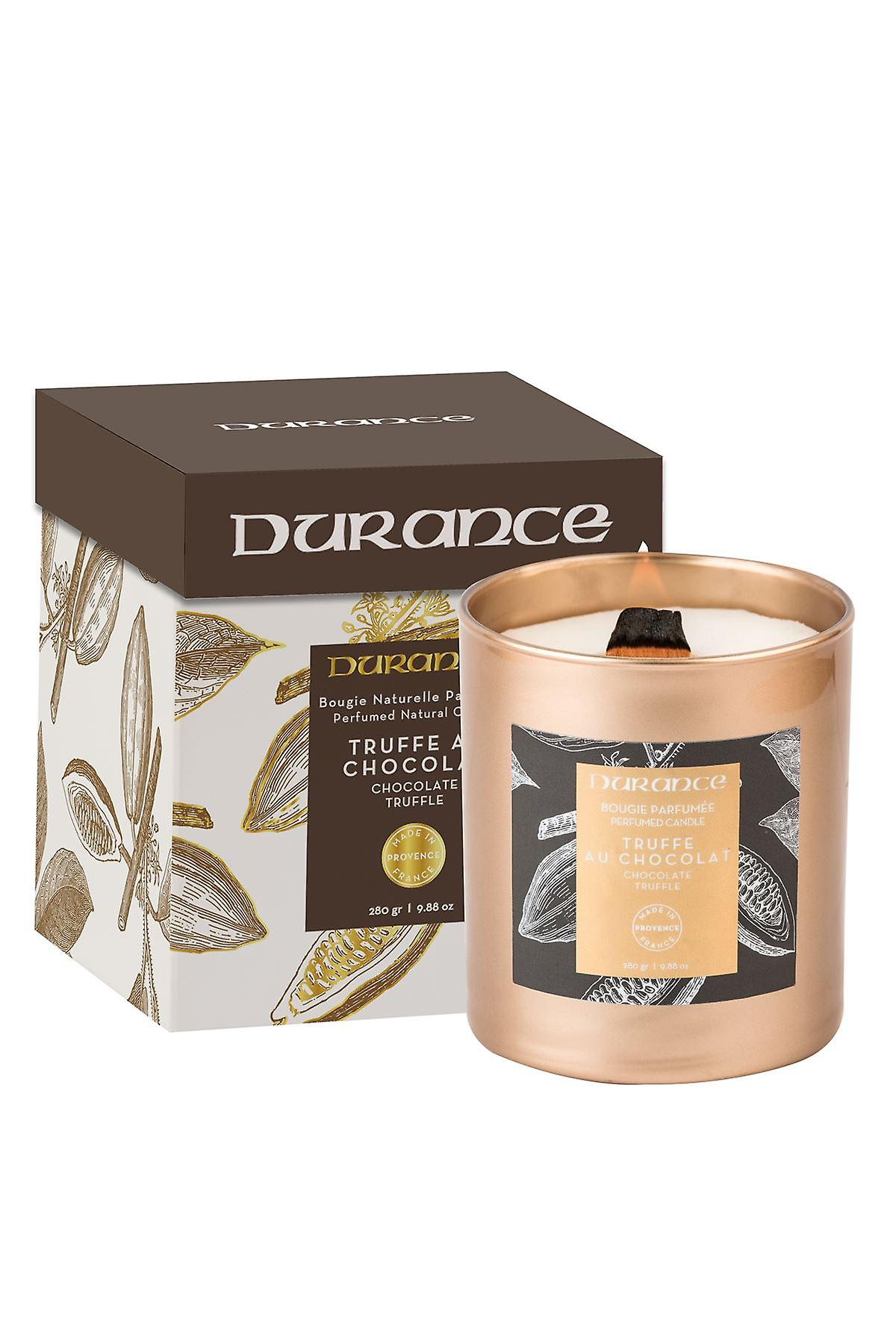 Durance Perfumed Wooden Wick Candle 280g - Chocolate Truffle