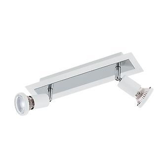 Eglo - Sarria 2 valo LED Spotlight valkoinen kromi EG94959