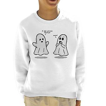 I See Living People Cute Ghosts Kid's Sweatshirt