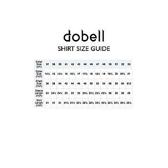 Dobell Mens Ivory Shirt Regular Fit 100% Cotton Standard Collar