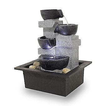 Bord fontenen Dekobrunnen FoQuadrato med led 10863
