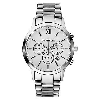 ORPHELIA Mens Chronograph Watch Olympics Silver Stainless steel 155-7900-18