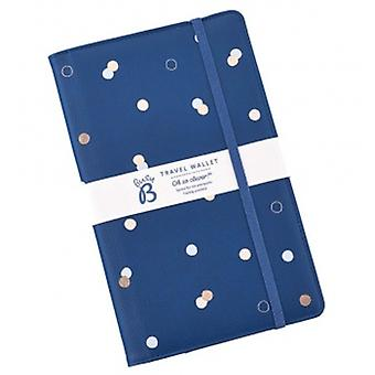 Ladies Navy Polka Dot Travel Wallet | Gifts From Handpicked