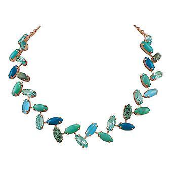 Éternelle décadence Collection Turquoise Howlite et cristal Rose or ton collier