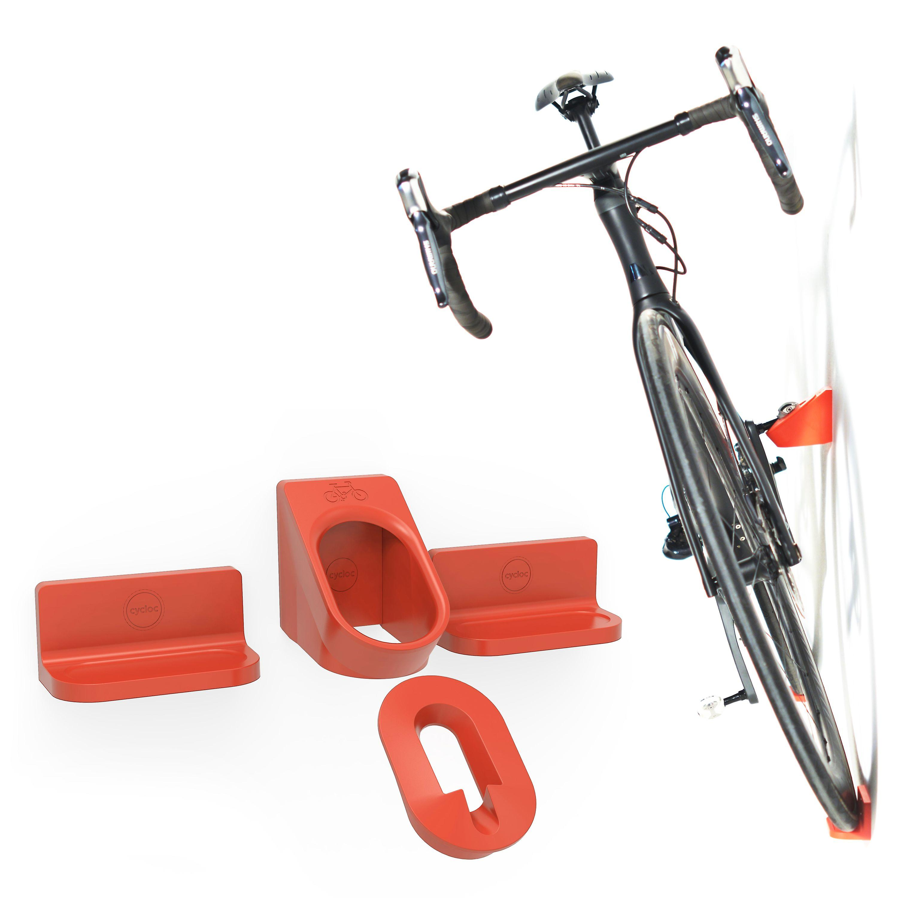 Cycloc Super Hero - Wall Mount Bike Display and Storage for Clipless Pedals