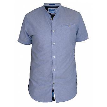 DUKE Duke Plain Collarless Short Sleeve Shirt