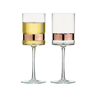 Anton Studio Soho sett med 2 vin glass, bronse