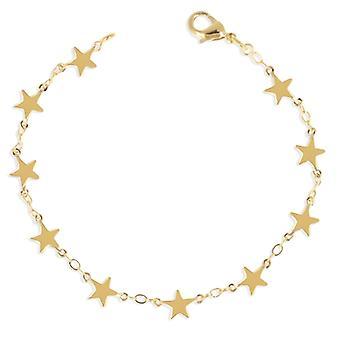 Gold Plated Bracelet Star 19cm